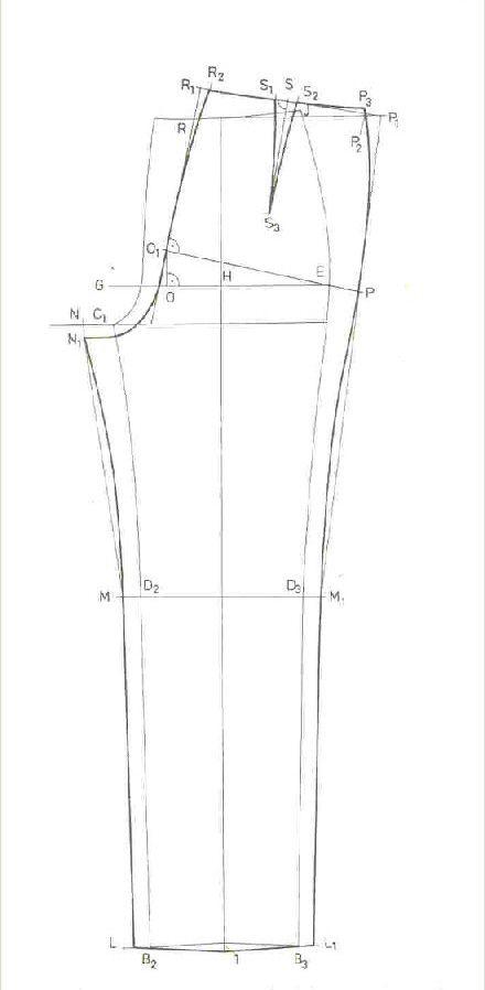 női nadrág alap szabásminta  52a23a9604