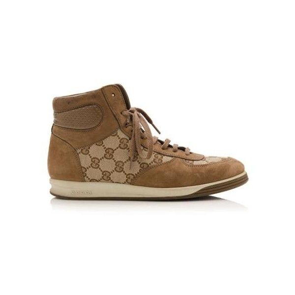 8e07a2f6f5d Pre-Owned Gucci Tennis 84 High-Top Sneakers ( 225) ❤ liked on Polyvore  featuring shoes