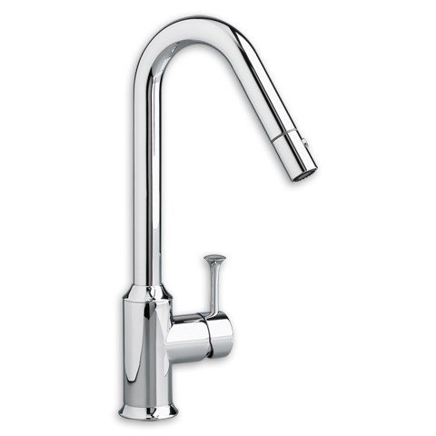 View Pekoe 1 Handle Pull Down High Flow Kitchen Faucet