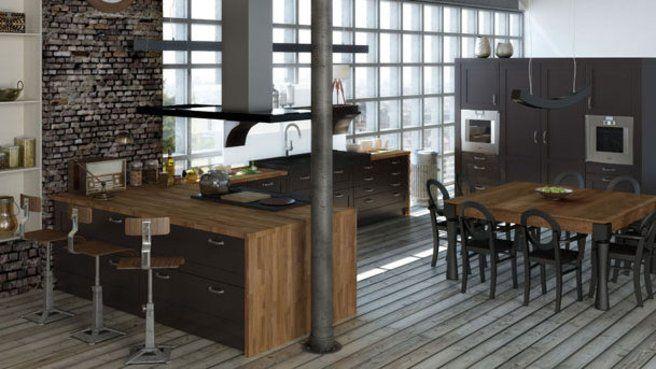 Recréer une ambiance loft dans la cuisine Industrial style, Lofts