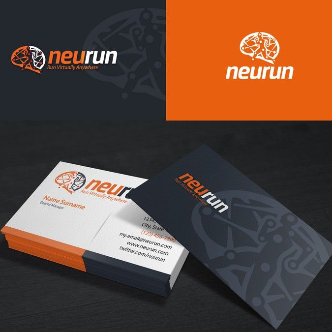 Create a logo that connects virtual reality running and the brain create a logo that connects virtual reality running and the brain for neurun by create a logobusiness card colourmoves