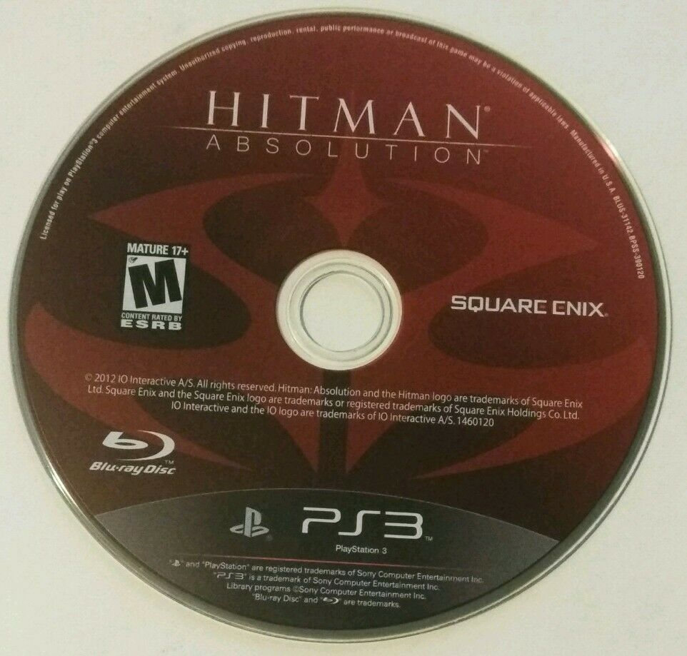Playstation 3 Hitman Absolution Sony 2012 Ps3 Game Disc Only Mint