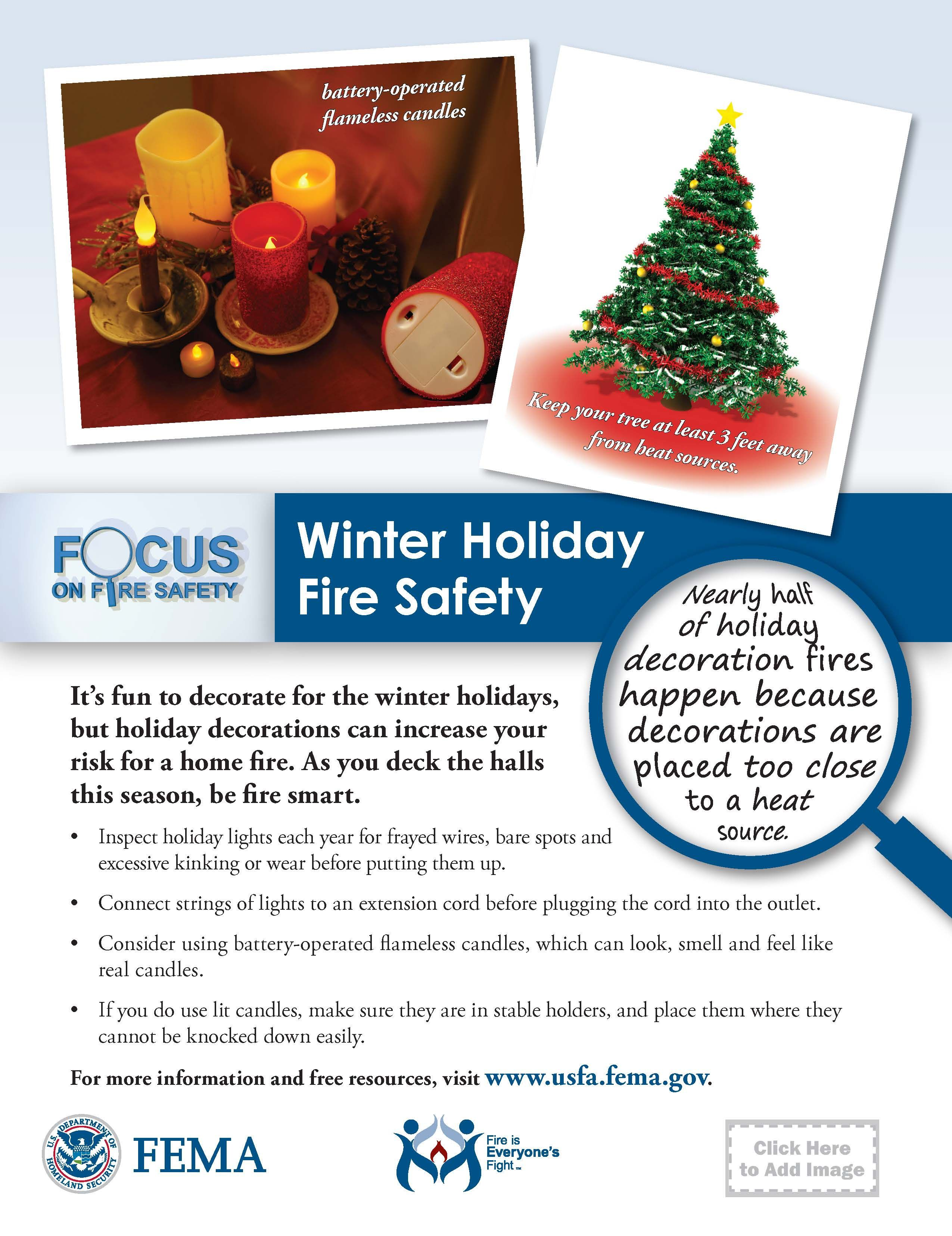 winter holiday fire safety Fire safety poster, Fire