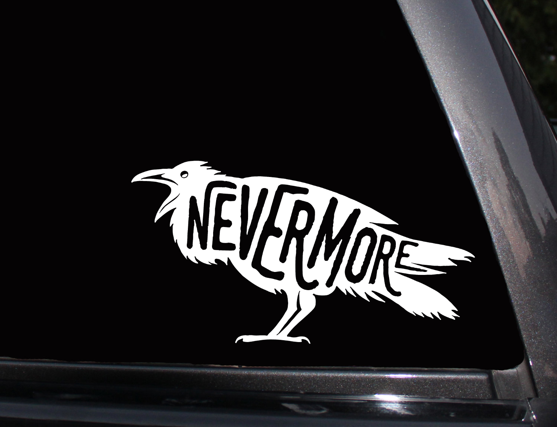 Edgar Allen Poe Nevermore Vinyl Decal Phone Decal Laptop Decal Wall Decal Car Decal Sticker Edgar Allen Poe Vinyl Decals Car Decals Vinyl [ 1151 x 1500 Pixel ]