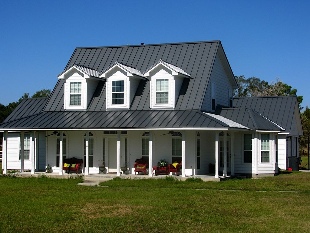 Images of houses with metal roofs metal roof porches for Farmhouse metal roof