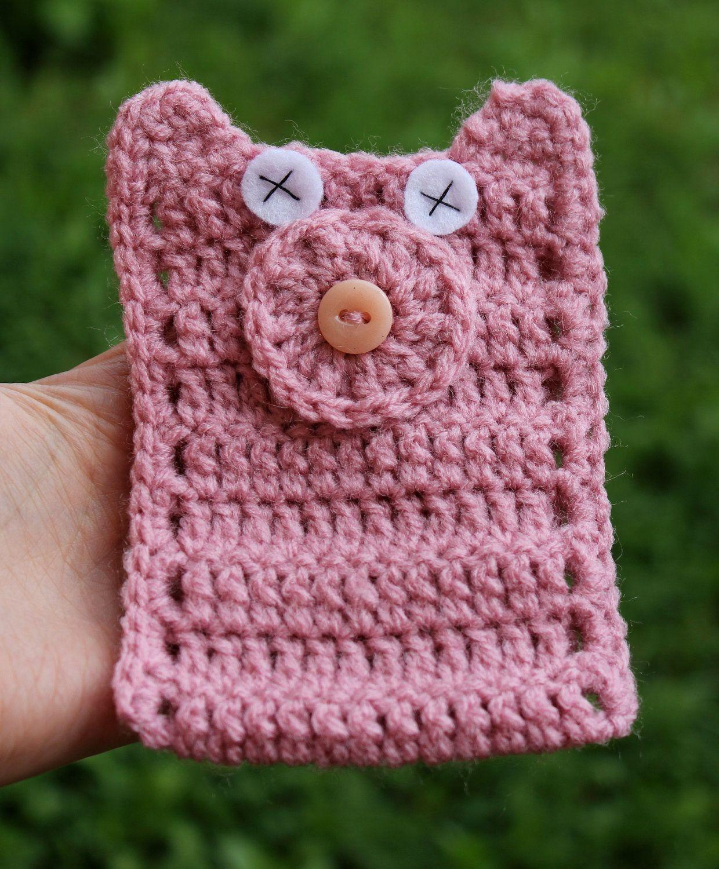 Piggy Crochet Mobile Cover   Mobile covers   Pinterest