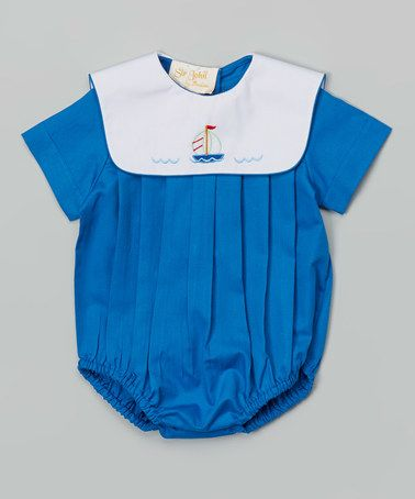 d301b5cac1 Loving this Blue Sailboat Bubble Bodysuit - Infant on #zulily! #zulilyfinds