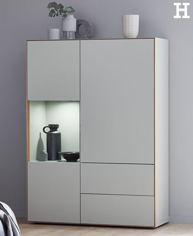 Schlichtes Design mit ganz viel Stauraum #wohnzimmer #möbel #idee - schrank für wohnzimmer