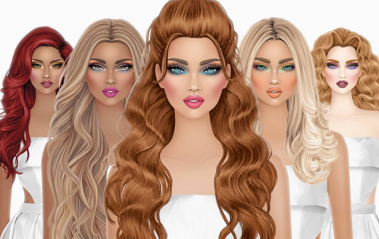 Pin By Music Arabica On Cover Model How To Draw Hair Girly Art Covet Fashion Games