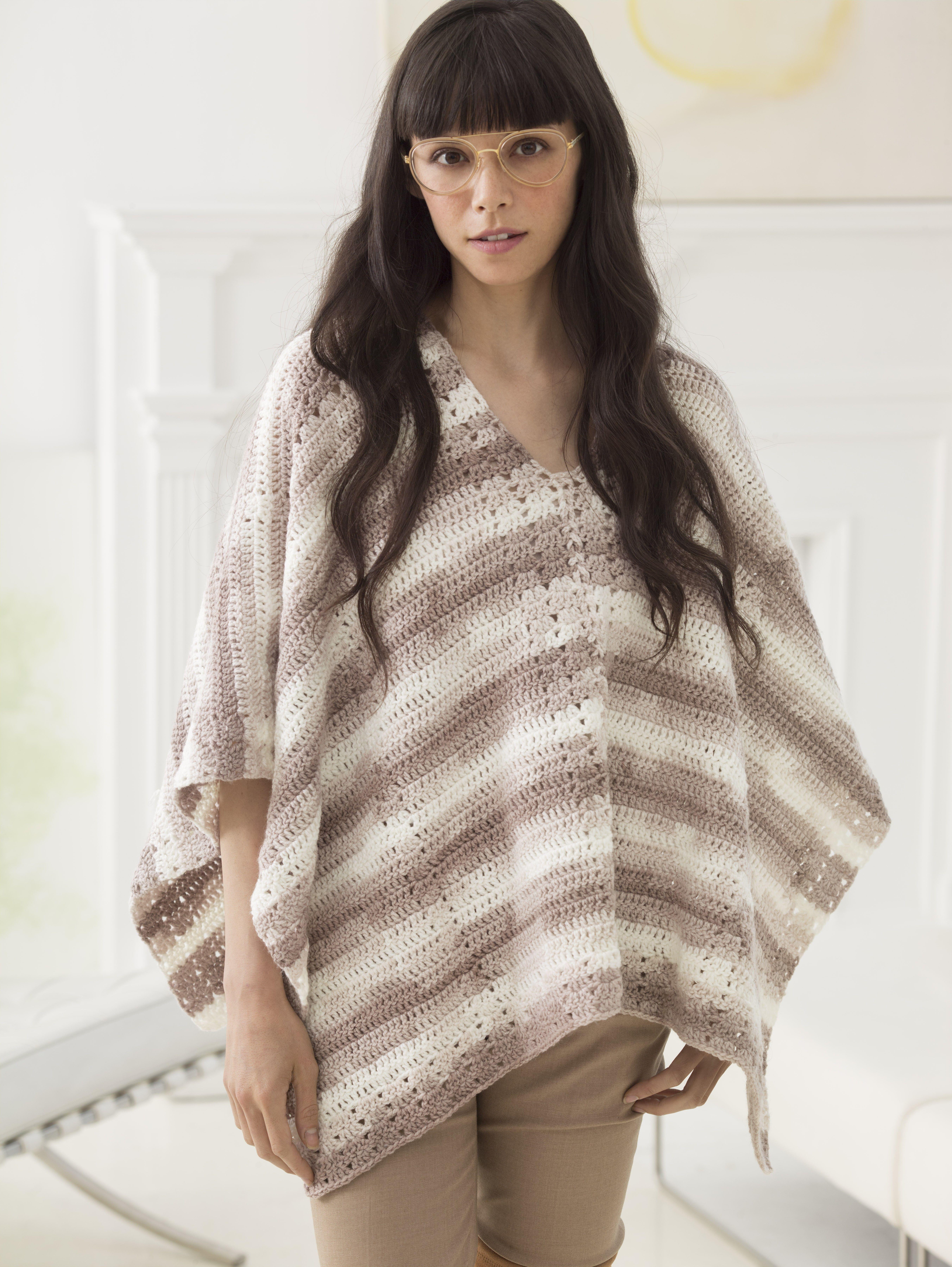 Tilda Poncho (Crochet) - Patterns - Lion Brand Yarn | Crochet ...