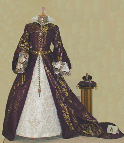 Replica of Queen Mary's dress
