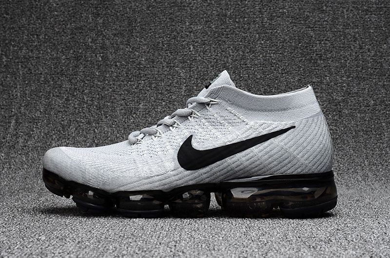 89d95aec40 Nike Air VaporMax 2018 light Grey black men Running Shoes 849558-100 ...