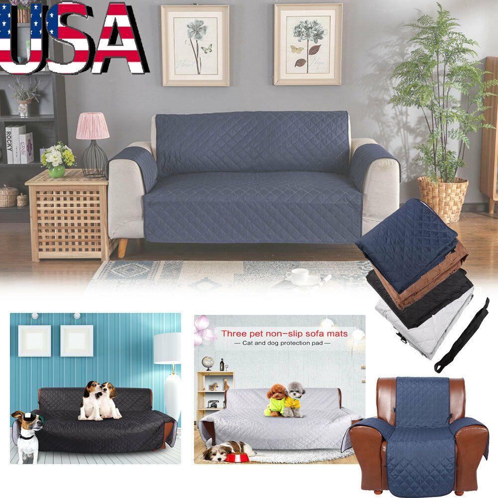 Waterproof Pet Kids Mat Furniture Protector Sofa Cover Slipcover