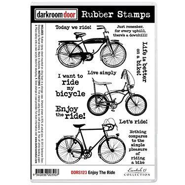 Darkroom Door Rubber Stamp Set - Enjoy The Ride