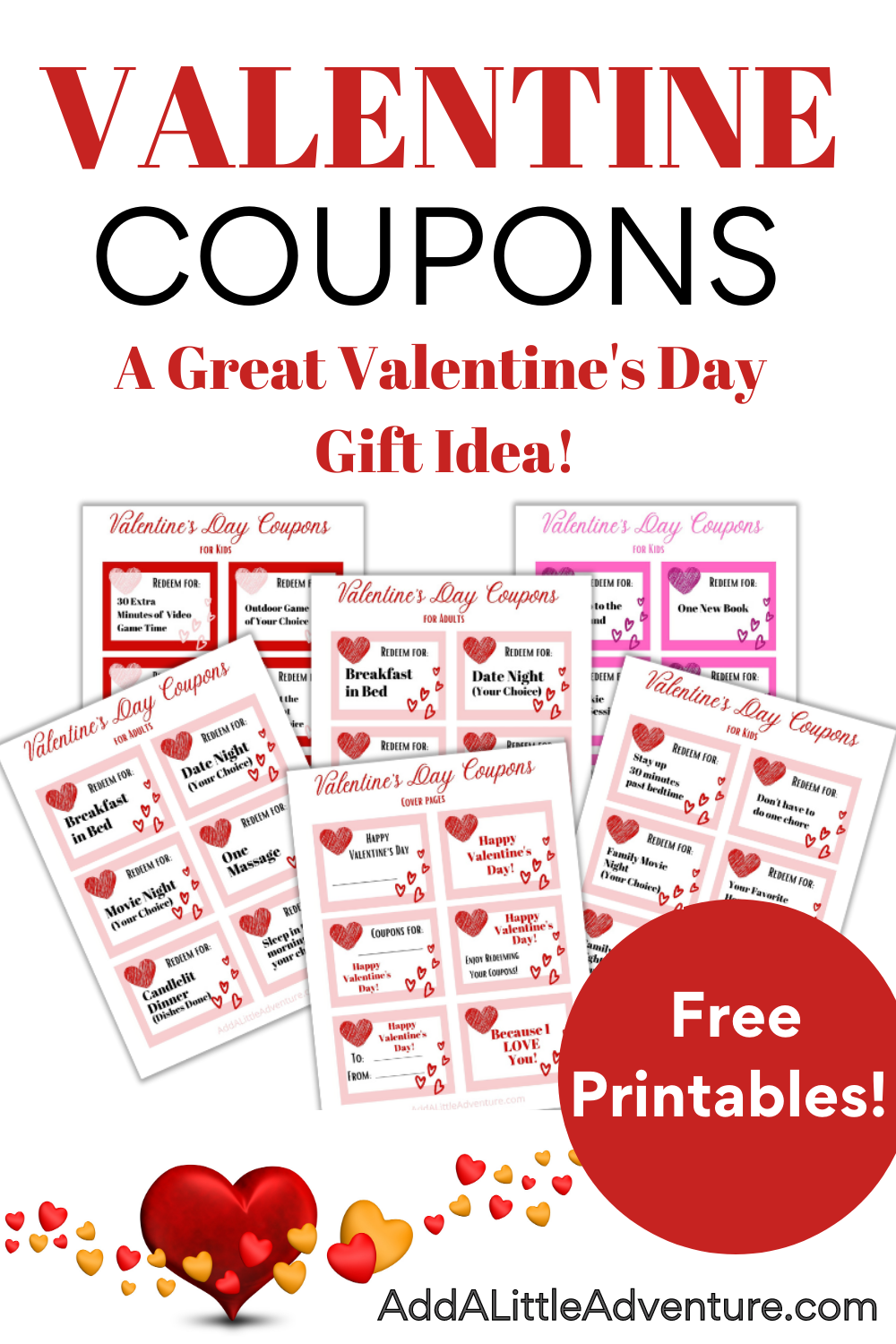 Valentine Coupons A Great Valentine S Day Gift Idea Valentines Printables Free Valentines Coupon Book Free Valentines Gifts