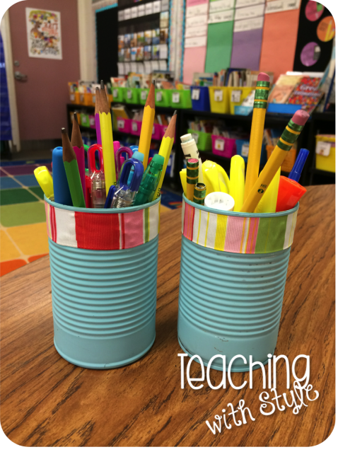 Pencil caddies for the classroom - blog post with photo tutorial