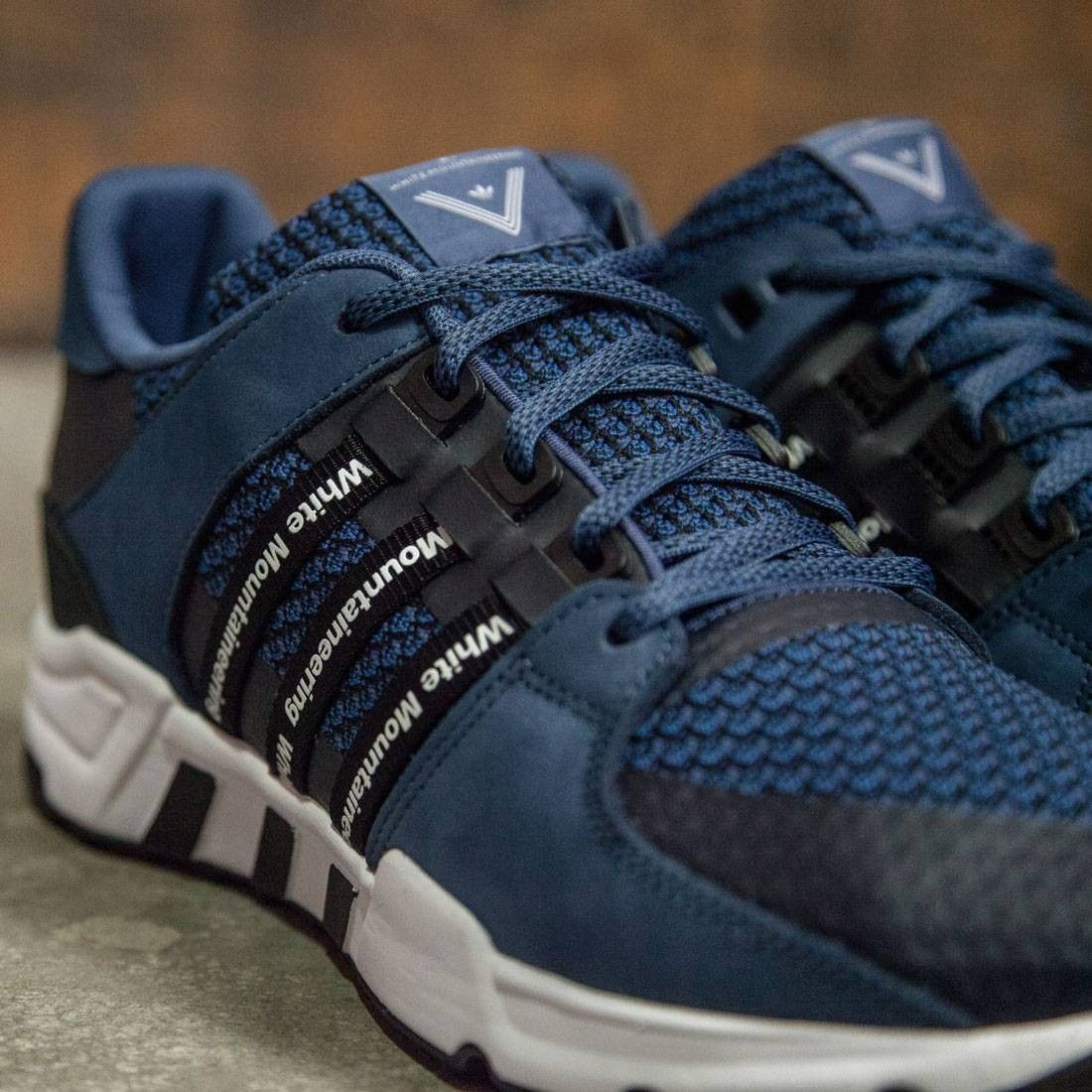new product ebcd2 9aa14 Adidas Men White Mountaineering EQT Running navy night marine dark marine  collegiate navy