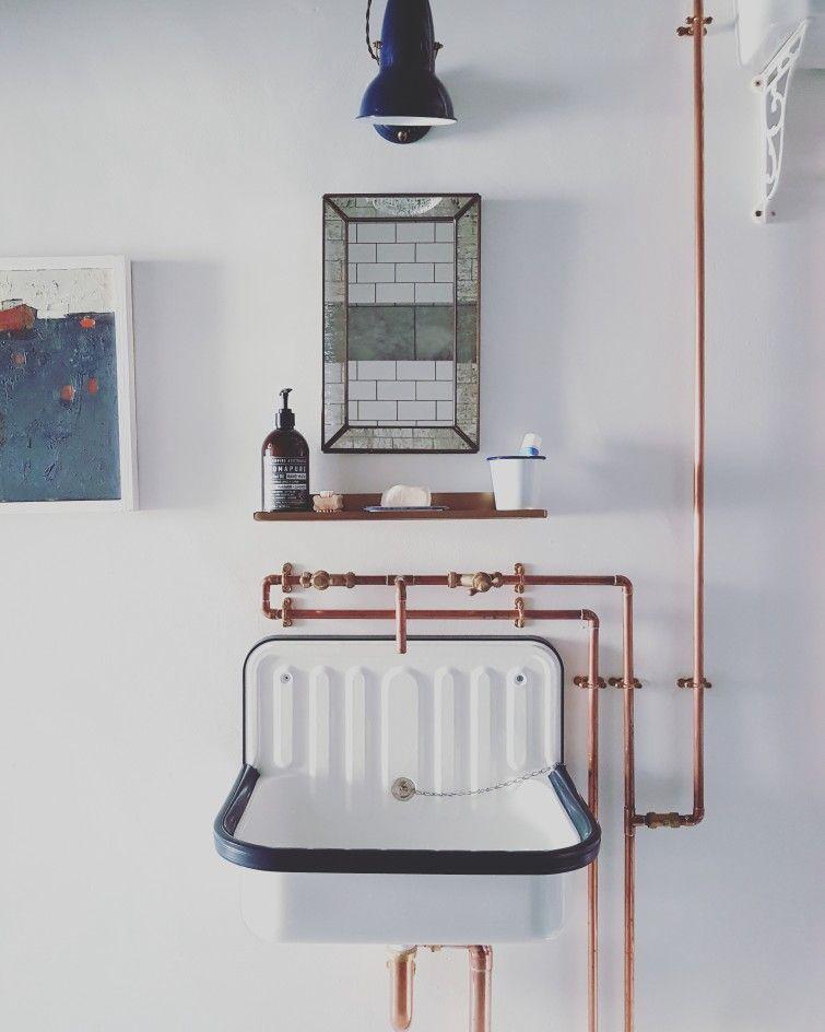 34+ Retro pipe bathroom cabinet mirror model