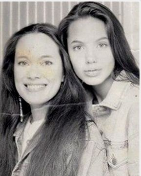 Young Angelina and her mother