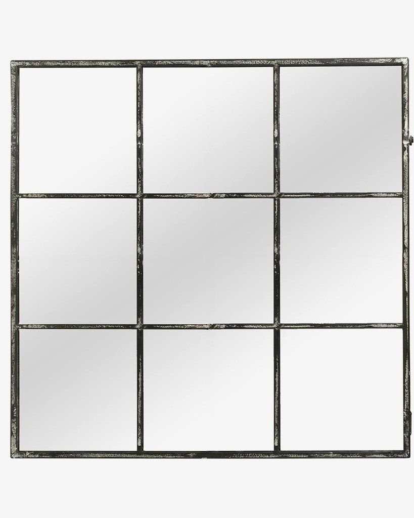 Large Window Frame Mirror Distressed Black Frame W 118cm Window Frames Frame Mirrors And Window