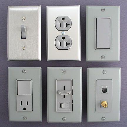 grey wall switch plates light switch