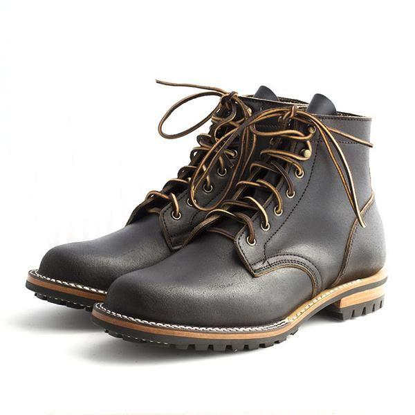 9b930f285d8 Black Waxed Flesh (Horween) – Truman Boot Co.   mantastic   Boots ...