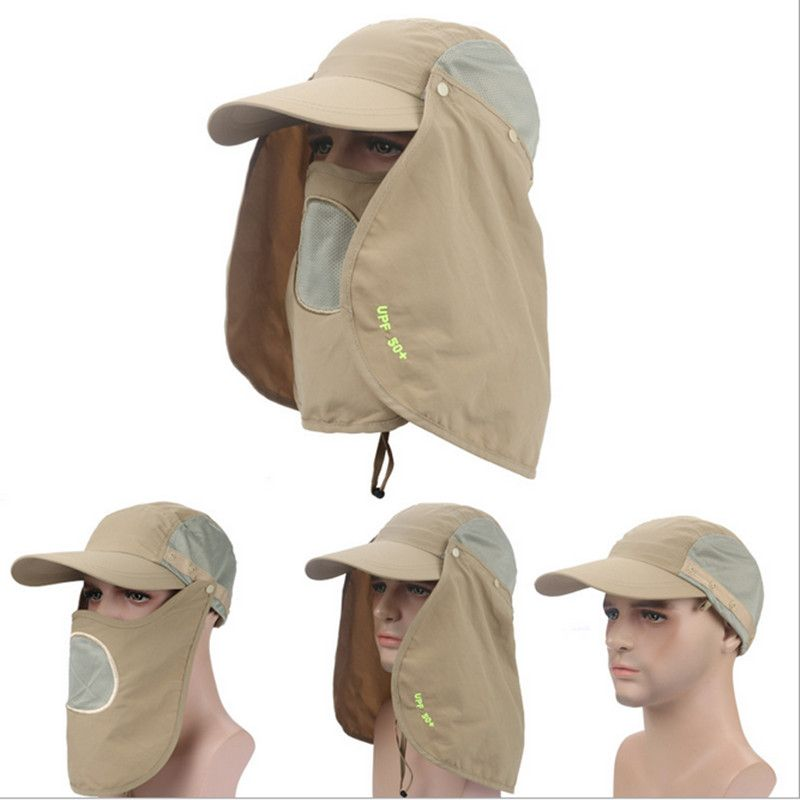 Men summer Sunscreen hats UPF 50+ hat outdoor sun shading anti ...
