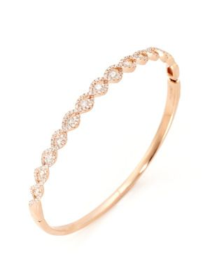 Sweet rose gold and diamond bangle by Odelia Jewelry Trinkets and
