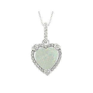 October birthstone checkerboard opal heart silver pendant october october birthstone checkerboard opal heart silver pendant aloadofball Gallery