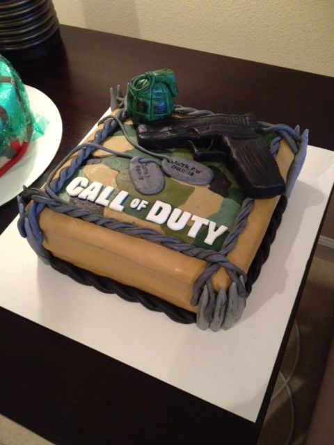 Call Of Duty Cake For A 13 Year Old With Images Hunting