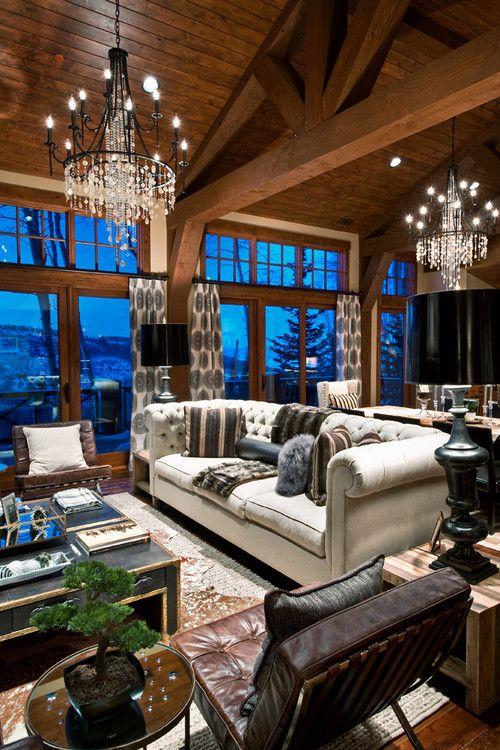 My ski lodge home. The Belles on Empire Pass residence, Park City, UT.  Living Room InspirationInterior Design ...
