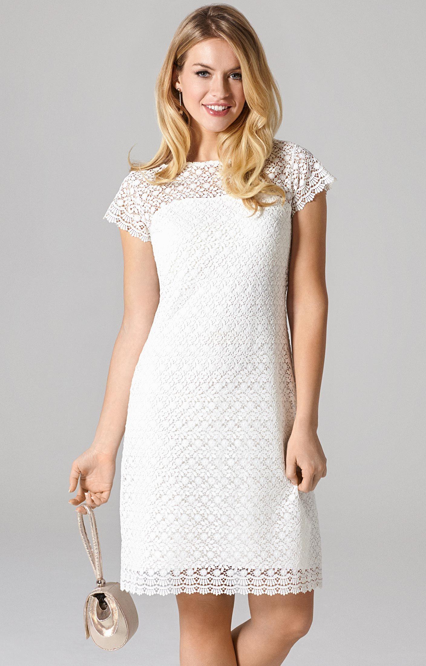 Kleid Nadia (Elfenbein) | Standesamt, 60er jahre und Hochzeitskleid