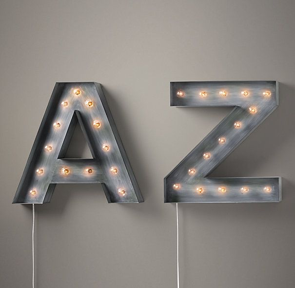 vintage illuminated marquee letters letters numbers restoration hardware