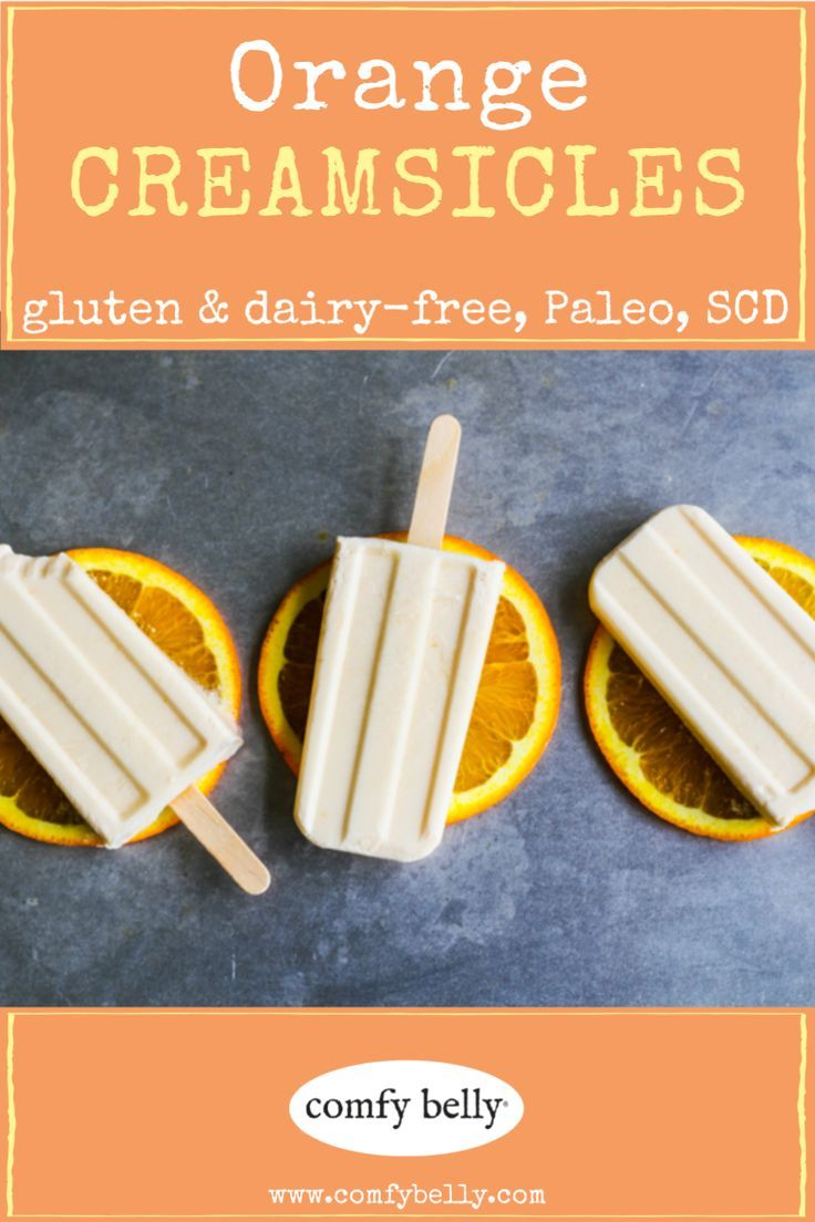 ORANGE CREAMSICLES These healthy treats taste like sunshine! Homemade popsicles are one of my favorite summer snacks. My recipe calls for coconut milk, but feel free to experiment with  heavy cream or even vanilla ice cream! || gluten free dairy free dess #homemadepopsicleshealthy