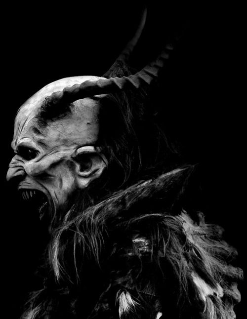 Looks like a Krampus costume. Those things are amazing = every one of them is an incredible artistic achievement.
