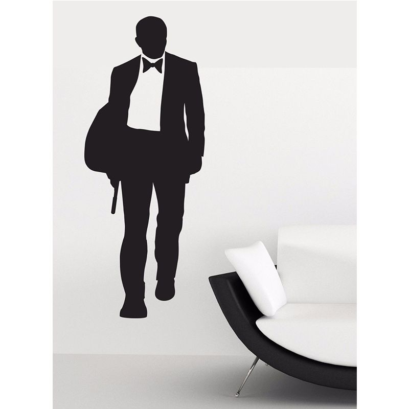 check discount james bond wall sticker 007 movie character posters boys room wall art decor james  sc 1 st  Pinterest & check discount james bond wall sticker 007 movie character posters ...