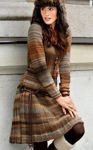Платье в коричневых тонах.. Обсуждение на LiveInternet - Российский Сервис…