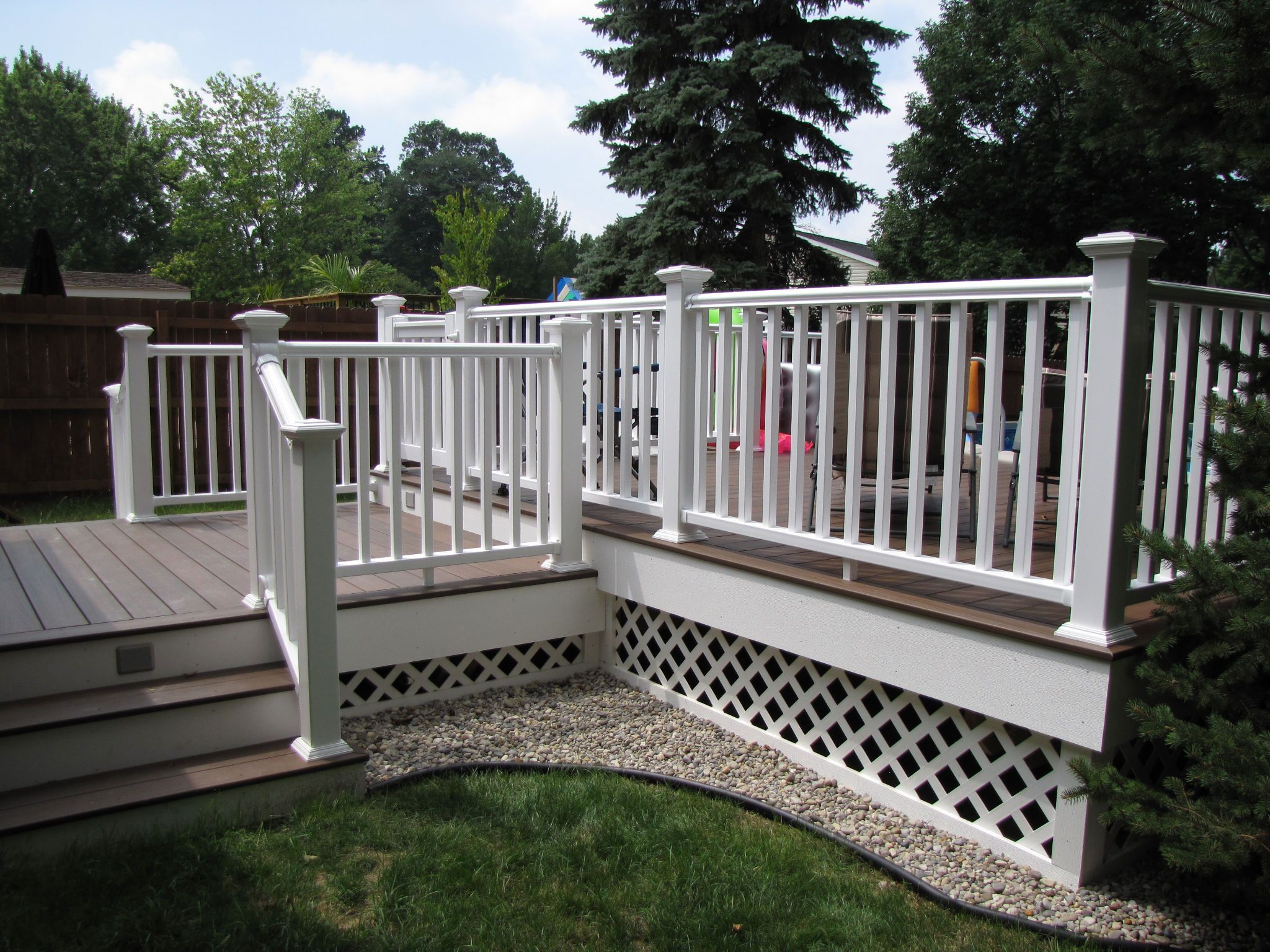 Finally Putting Up Pictures Of My Pool And Deck From 2011 Deck Colors Deck Paint Painted Pool Deck