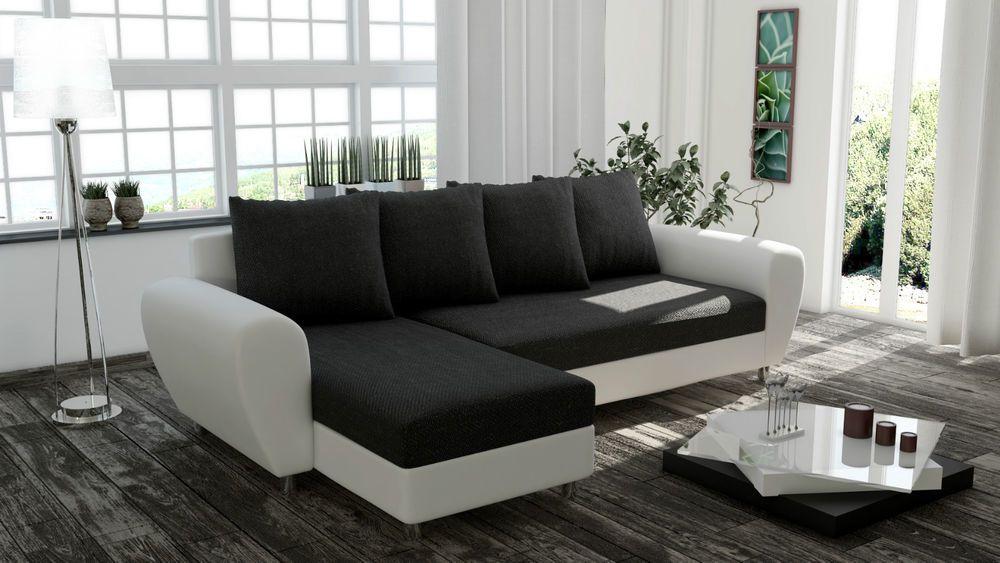 Couch Garnitur Ecksofa FEDERKERN inside Sofa ROM Wohnlandschaft ...