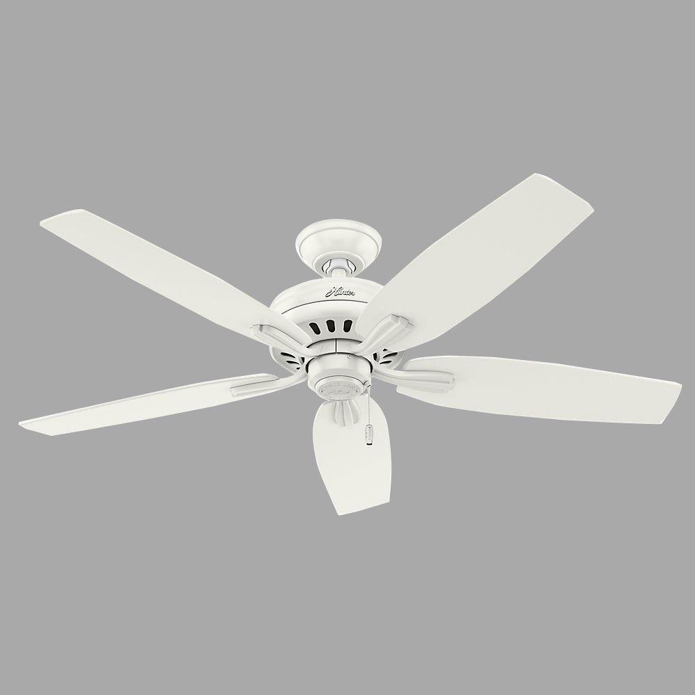 Hunter Newsome 52 In Indoor Fresh White Ceiling Fan 53319 The Home Depot White Ceiling Fan Ceiling Fan With Light Ceiling Fan 52 inch white ceiling fan