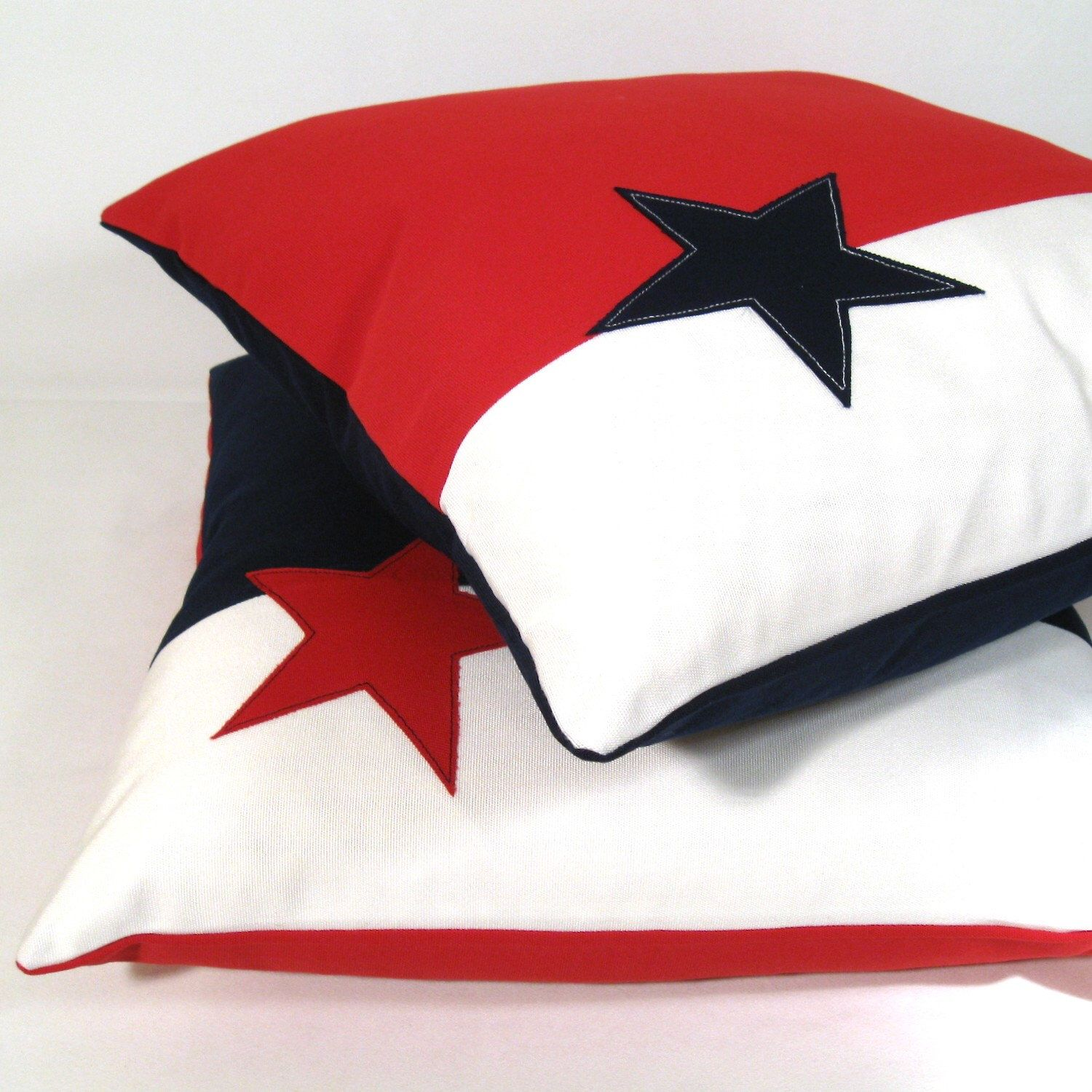 Nautical Outdoor Pillow Cover Decorative Red White Blue Pillow