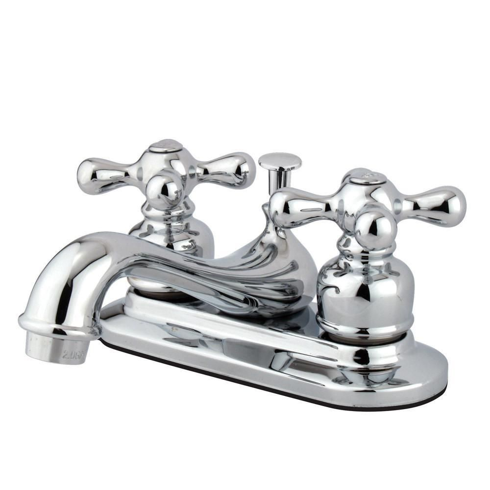 Kingston Brass Chrome 2 Handle 4 Centerset Bathroom Faucet With