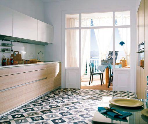 Cuisine avec carreaux de ciment ©Pinar Miro