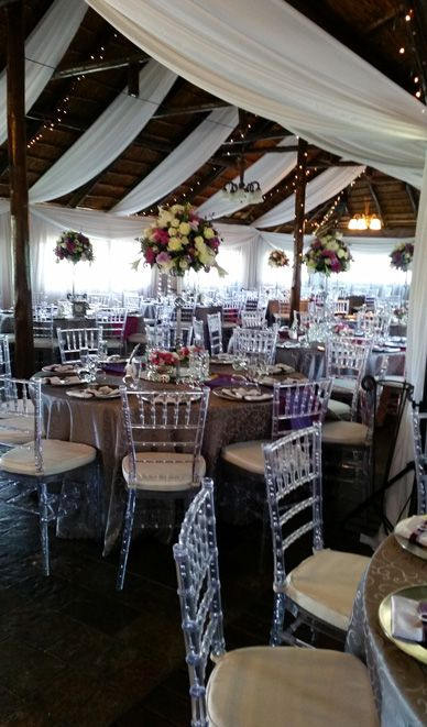 Strip Draping Lapa On Vaal Exquisite Gardens Table Decorations
