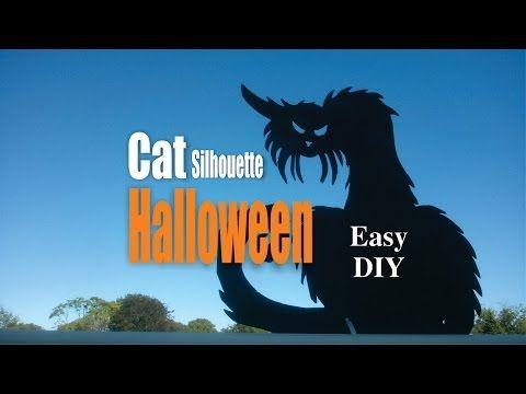 DIY Easy Cat Silhouette Halloween Decorations - YouTube Do It - how to make halloween decorations youtube