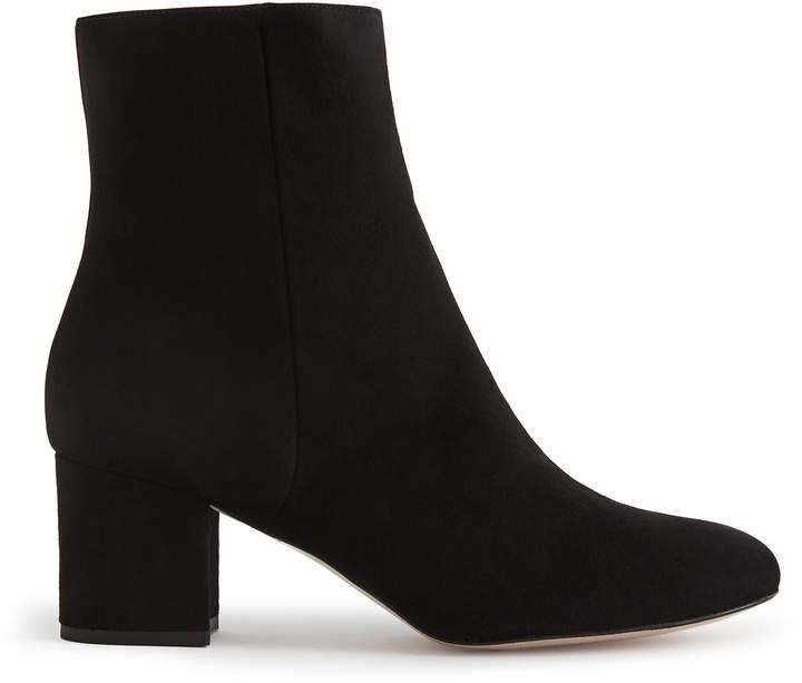 65fe80f3d9c36 Reiss Delphine Suede Block Heeled Ankle Boots