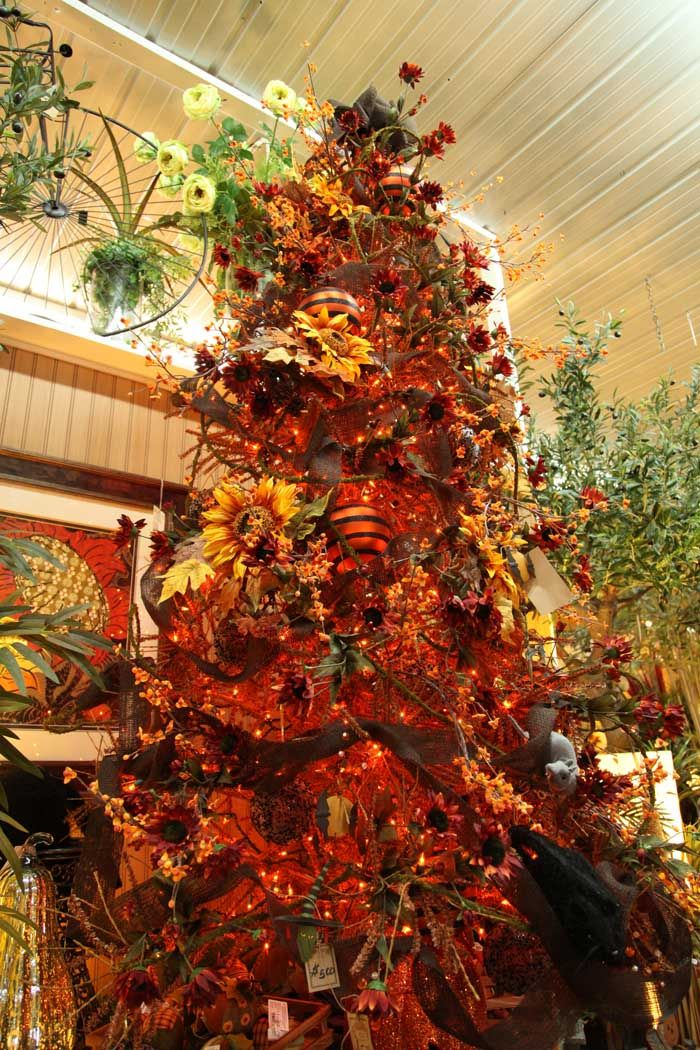 decorated fall tree / tree for fall / ornaments for fall / autumn tree Like  us