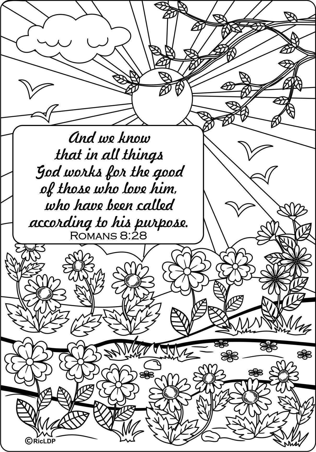 15 Bible Verses Coloring Pages   Pinterest   Roman, Bible and Sunday ...