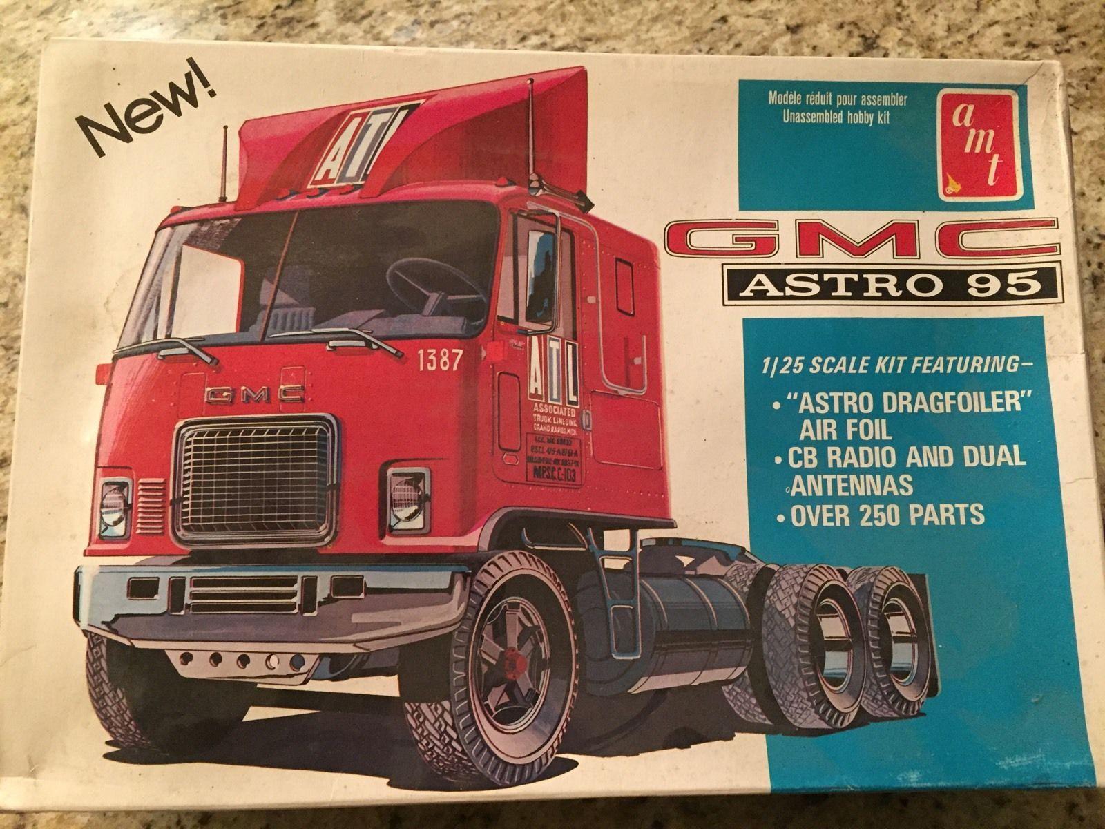 amt gmc astro 95 cabover truck model kit 1 25 model trucks pinterest model car. Black Bedroom Furniture Sets. Home Design Ideas