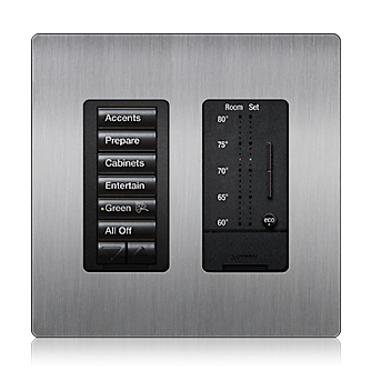 Lutron Lighting Control Keypad And Thermostat In 2019